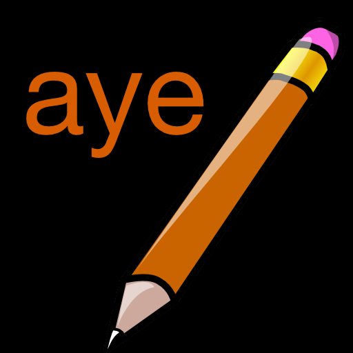 AyeNotes (notes with shorthand) app icon