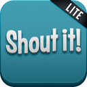 Shout It! (Lite) - Mobile Catch Phrase Party Game mobile app icon